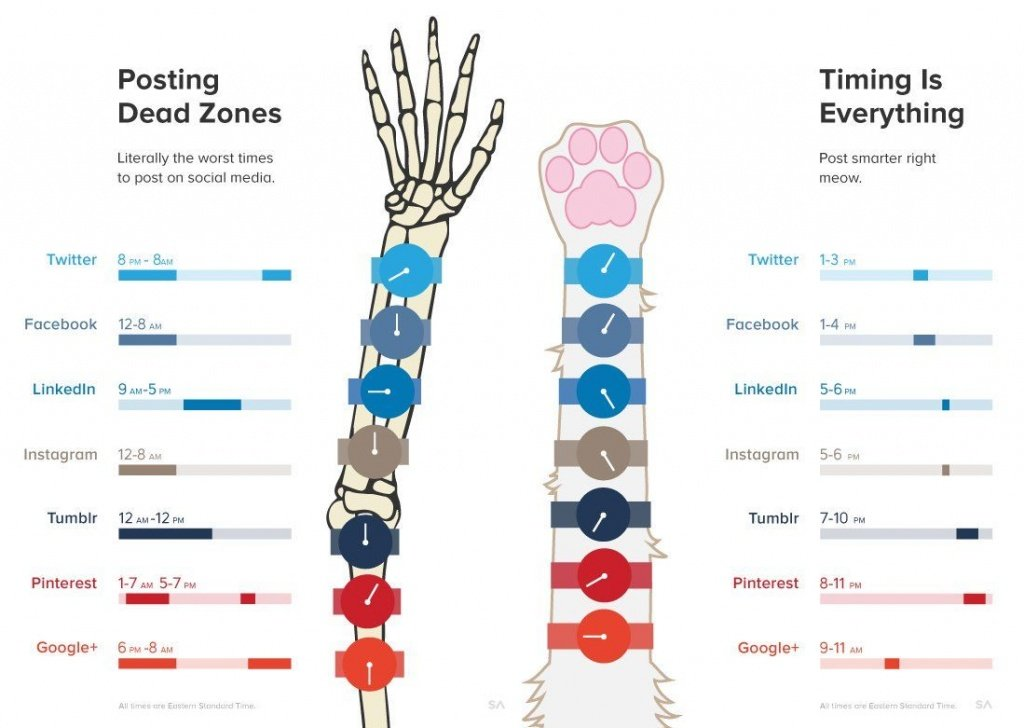 Best Time To Post on Social Networks - 360nerds